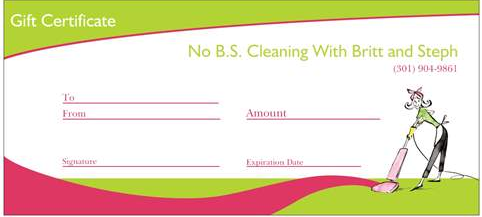 No bs cleaning gift certif happy easter happy mothers day seasons greetings negle Images